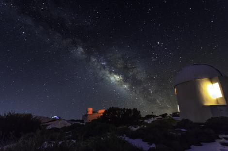 View of the Milky Way from the Izana Observatory. Adam Hill 2015
